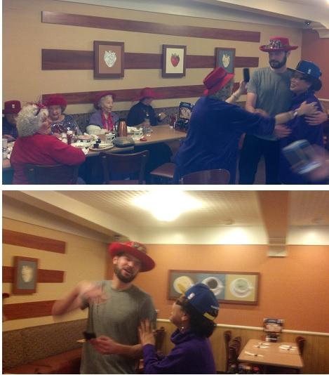 Red Hat Society plus Joosh